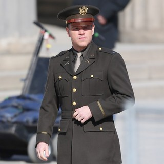 Matt Damon in On The Set of Movie The Monuments Men