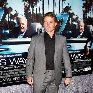 Matt Damon in The Los Angeles HBO Premiere of His Way