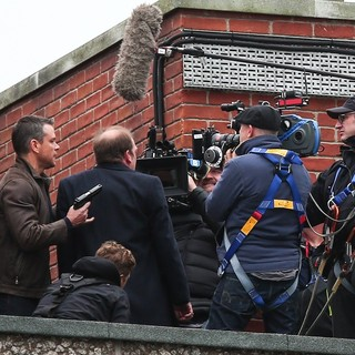 Matt Damon - Matt Damon Films A Scene for Bourne 5