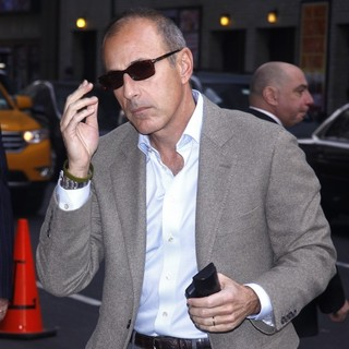 Matt Lauer in The Late Show with David Letterman - Arrivals