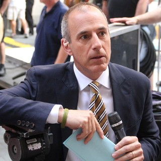 Matt Lauer Outside Rockefeller Center for The Today Show's Concert Series
