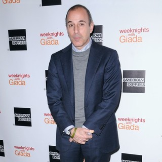 Matt Lauer in Weeknights with Giada Book Launch Party