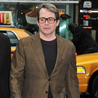 Matthew Broderick in Celebrities Leaving The Time Warner Center in Columbus Circle