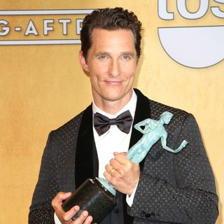 Matthew McConaughey in The 20th Annual Screen Actors Guild Awards - Press Room