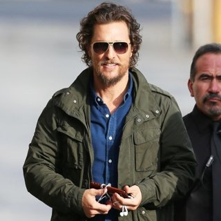 Matthew McConaughey Seen Arriving for Jimmy Kimmel Live!