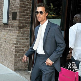 Matthew McConaughey in Matthew McConaughey Seen Out and About in Manhattan