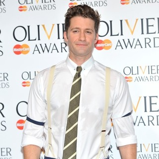 Matthew Morrison in The Olivier Awards 2013 - Press Room