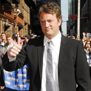 Matthew Perry in Matthew Perry Outside The Ed Sullivan Theater for The Late Show With David Letterman