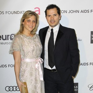 Justine Maurer, John Leguizamo in 21st Annual Elton John AIDS Foundation's Oscar Viewing Party