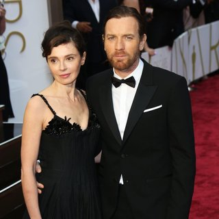 Eve Mavrakis, Ewan McGregor in The 86th Annual Oscars - Red Carpet Arrivals