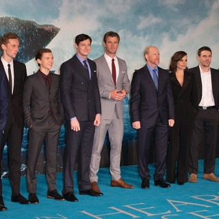 Joseph Mawle, Edward Ashley, Tom Holland, Benjamin Walker, Chris Hemsworth, Ron Howard, Charlotte Riley, Jamie Sives, Cillian Murphy in The European Premiere of In the Heart of the Sea - Arrivals