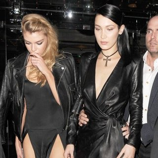 Stella Maxwell, Bella Hadid-Bella Hadid Enjoys A Night Out with Stella Maxwell