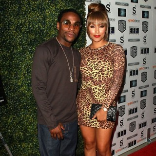 Floyd Mayweather, Jr., Shantel Jackson in The Lionsgate Home Entertainment and Grindstone VIP Screening of Freelancers