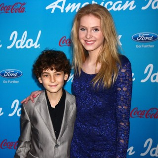 David Mazouz, Saxon Sharbino in FOX's American Idol Finalists Party