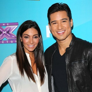 Courtney Mazza, Mario Lopez in FOX's The X Factor Finalists Party - Arrivals