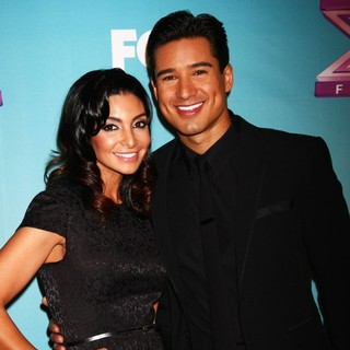 Courtney Mazza, Mario Lopez in The X Factor Season Finale - Red Carpet Arrivals