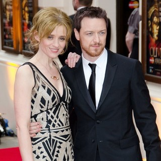 Anne-Marie Duff, James McAvoy in The Olivier Awards 2013 - Arrivals