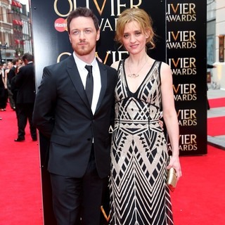 James McAvoy, Anne-Marie Duff in The Olivier Awards 2013 - Arrivals