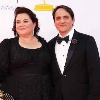 Melissa McCarthy, Ben Falcone in 64th Annual Primetime Emmy Awards - Arrivals