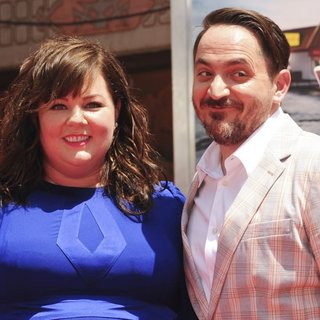 Melissa McCarthy, Ben Falcone in Melissa McCarthy's Hand and Footprint Ceremony