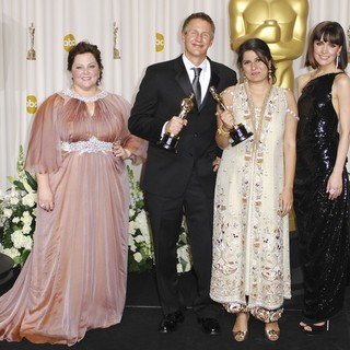 Melissa McCarthy, Daniel Junge, Sharmeen Obaid-Chinoy, Rose Byrne in 84th Annual Academy Awards - Press Room