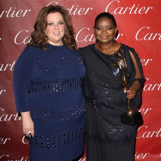 Melissa McCarthy, Octavia Spencer in The 23rd Annual Palm Springs International Film Festival Awards Gala - Press Room