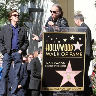Paul McCartney, Neil Young in Paul McCartney Honored with A Star on The Hollywood Walk of Fame