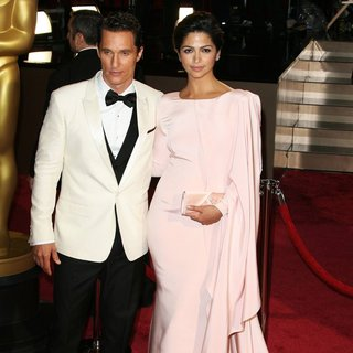 Matthew McConaughey, Camila Alves in The 86th Annual Oscars - Red Carpet Arrivals