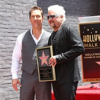 Matthew McConaughey, Guy Fieri in Guy Fieri Star Ceremony on The Hollywood Walk of Fame