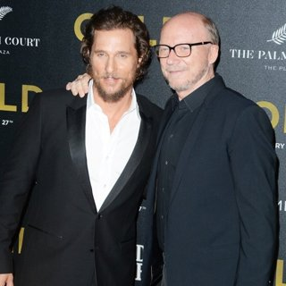 Matthew McConaughey, Paul Haggis-World Premiere of Gold - Red Carpet Arrivals