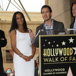 Malcolm McDowell, Garcelle Beauvais, Mark-Paul Gosselaar, Reed Diamond in The Hollywood Walk of Fame Honors Malcolm McDowell