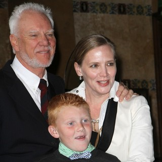 Malcolm McDowell, Beckett Taylor McDowell, Kelley Kuhr in The Hollywood Walk of Fame Honors Malcolm McDowell