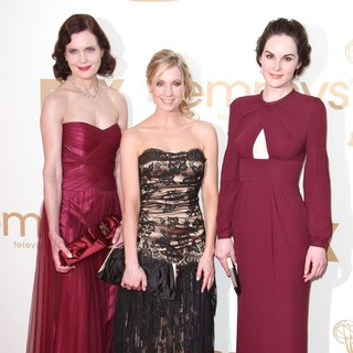 Elizabeth McGovern, Joanne Froggatt, Michelle Dockery in The 63rd Primetime Emmy Awards - Arrivals