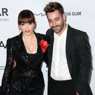 Rose McGowan, Davey Detail in amfAR 3rd Annual Inspiration Gala