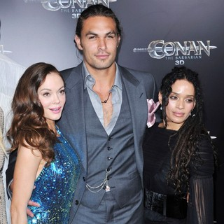 Rose McGowan, Jason Momoa, Lisa Bonet in The LA Premiere of Conan the Barbarian