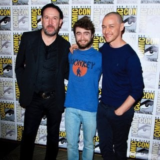 Paul McGuigan, Daniel Radcliffe, James McAvoy in San Diego Comic-Con International 2015 - 20th Century FOX Panel - Arrivals