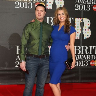 Paddy McGuinness, Christine Martin in The 2013 Brit Awards - Arrivals