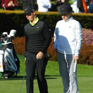 Rory McIlroy, Niall Horan in BMW PGA Celebrity Pro-Am Challenge 2015
