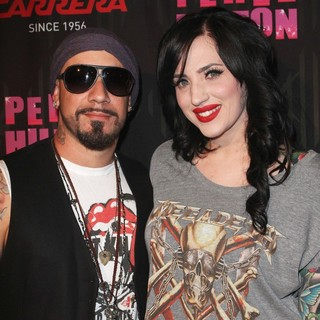 A.J. McLean, Rochelle Karidis in Carrera Presents Perez Hilton's One Night in Los Angeles