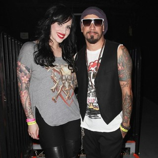 Rochelle Karidis, A.J. McLean in Carrera Presents Perez Hilton's One Night in Los Angeles