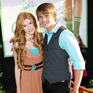 Katherine McNamara, Joel Courtney in The World Premiere of The Odd Life of Timothy Green - Arrivals