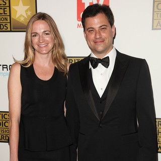Molly McNearney, Jimmy Kimmel in 2012 Critics' Choice TV Awards - Arrivals