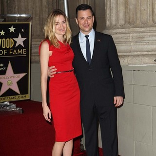 Molly McNearney, Jimmy Kimmel in Jimmy Kimmel Honored with A Star on The Hollywood Walk of Fame