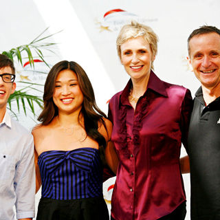 Kevin McHale, Jenna Ushkowitz, Jane Lynch in 50th Anniversary of The Monte Carlo TV Festival - 'Glee' Photocall - Day 3