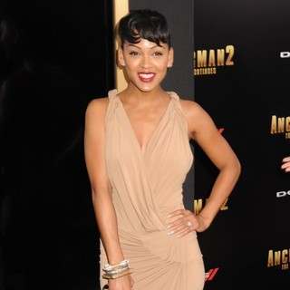 Meagan Good in Anchorman: The Legend Continues Premiere Sponsored by Buffalo David Bitton