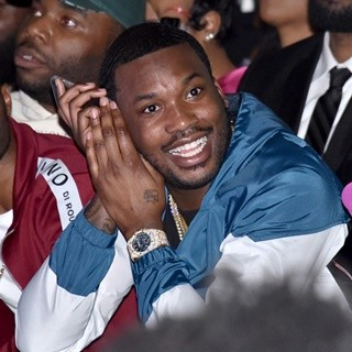 Meek Mill in Milano Di Rouge Fashion Show