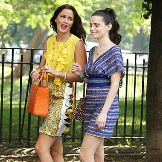 Leighton Meester, Roxane Mesquida in The First Day of Shooting The New Season of Gossip Girl