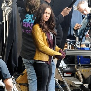 Megan Fox in Reshoots of The Movie Teenage Mutant Ninja Turtles