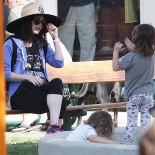 Megan Fox and Brian Austin Green Take Their Children to The Park