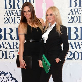 Melanie C, Emma Bunton in The Brit Awards 2015 - Arrivals